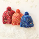 Colorful Winter Hat handmade with hand painted merino wool by Little Monkeys Design