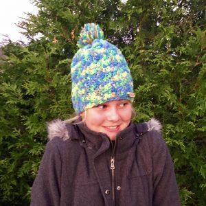 Crazy Jesse Winter Crochet Hat Pattern by Little Monkeys Design