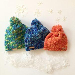 Crazy Jesse merino wool hats by Little Monkeys Design