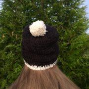 Winter Pom-pom hats in merino wool by Little Monkeys Design.