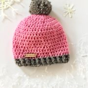 Pom-Pom Hat crochet pattern by Little Monkeys Design.