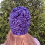 Slouchy winter hat in merino wool by Little Monkeys Design