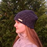 Crochet Hat Pattern by Little Monkeys Design. A Slouchy winter hat in merino wool.