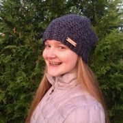Winter slouchy hat -Let It Snow thick winter hat in merino and alpaca wool by Little Monkeys Design.