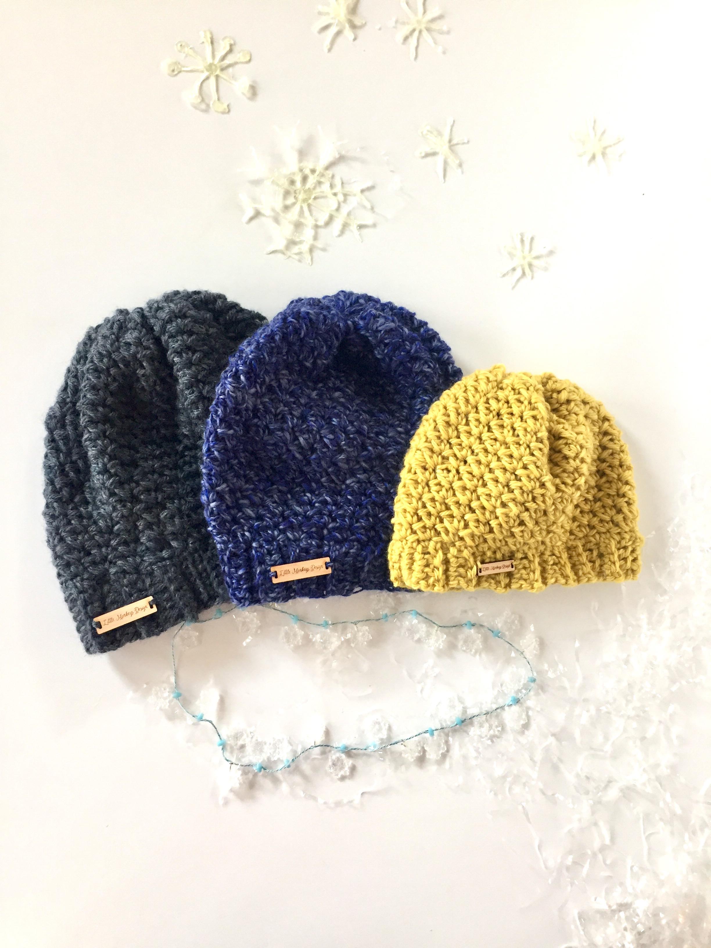 Let It Snow Chunky Winter Hat By Little Monkeys Designs