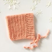 Ribbed Baby Bonnet crochet pattern by Little Monkeys Design.