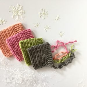Ribbed Baby Bonnet crochet pattern by Little Monkeys Designs