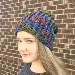 Merino wool slouchy beanie hat by Little Monkeys Design.