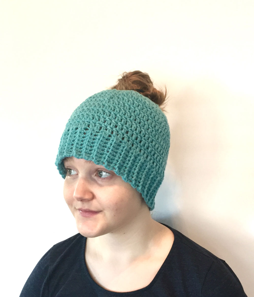 Crochet Bun Hat : bun hat crochet pattern 4 00 you re seeing them everywhere a messy bun ...