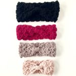 Merino wool knotted ear warmer by Little Monkeys Design. Choose your color and size - toddler, child or adult.