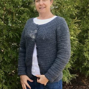 Stargazer cardigan crochet pattern by Little Monkeys Designs