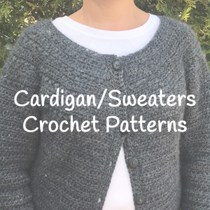 Cardigans/Sweaters crochet patterns