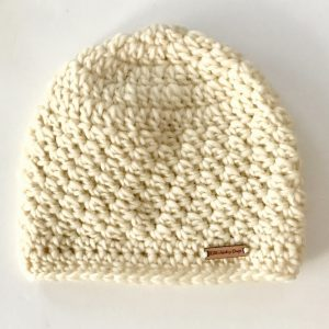Chunky Wool beanie hat in cream or teal by Little Monkeys Design.