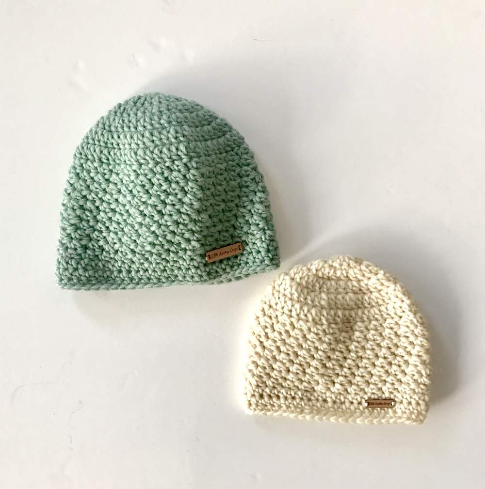 Chunky Merino Wool Hats for adults in natural merino wool by Little Monkeys Design – Aleah Hat
