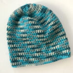 Slouchy beanie hat in merino wool for a fun and colorful warm hat.