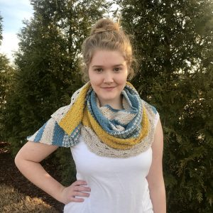 Monday Morning Shawl by Little Monkeys Design - a modern shawl crochet pattern.