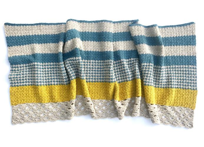 Monday Morning Shawl by Little Monkeys Design - a modern shawl crochet pattern.