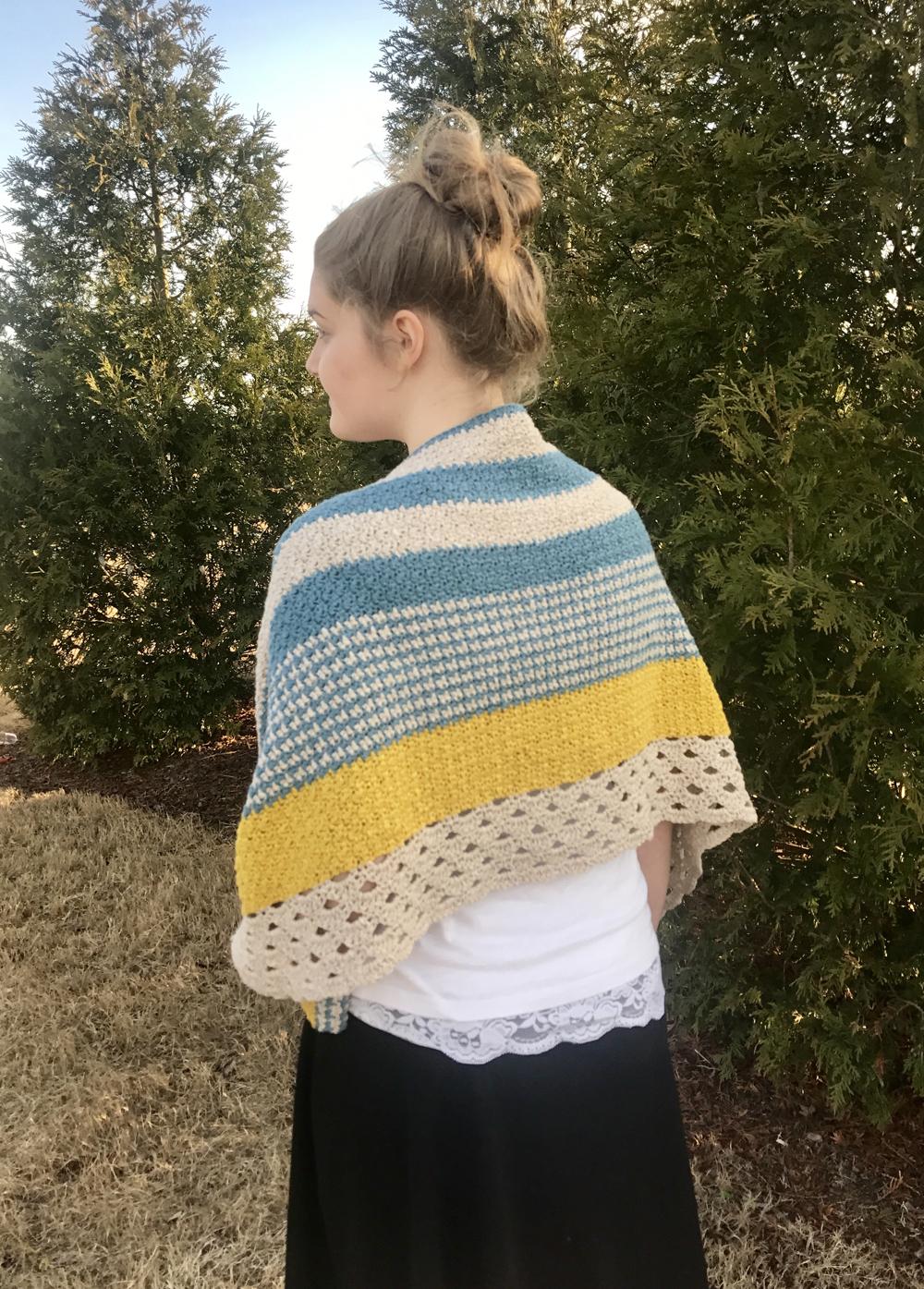 Monday Morning Shawl Crochet Pattern by Little Monkeys Design