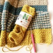 Monday Morning Shawl crochet Kit by Little Monkeys Design