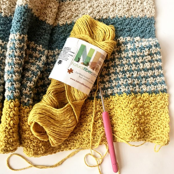 Monday Morning Shawl crochet Kit by Little Monkeys Design