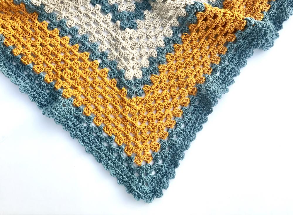 Sunny Day Triangle Shawl Crochet Pattern Little