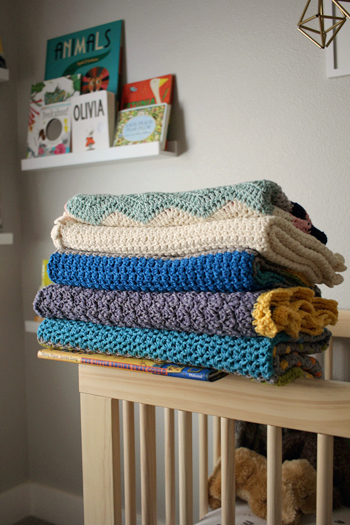Collection of Baby blanket crochet patterns by Little Monkeys Design