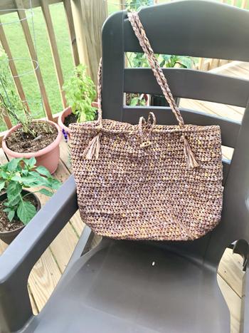 Beach Bound Straw Bag crochet pattern by Little Monkeys ...