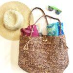 Beach Bound Straw Bag crochet pattern by Little Monkeys Design - crochet raffia bag - beach tote crochet pattern