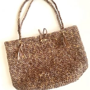 Beach Bound Straw Bag crochet pattern - beach tote crochet pattern by Little Monkeys Design