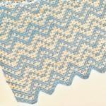 Dreamy Waves Chevron Baby Blanket crochet pattern - summer baby blanket crochet pattern - crochet baby blanket pattern by Little Monkeys Design - organic cotton baby blanket