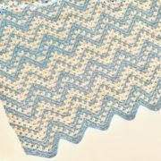 Dreamy Waves Chevron Baby Blanket crochet pattern - summer baby blanket crochet pattern - crochet baby blanket pattern by Little Monkeys Design - organic cotton baby blanket