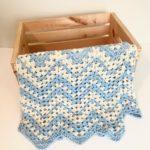 Dreamy Waves Chevron Baby Blanket crochet pattern - summer baby blanket crochet pattern - crochet baby blanket pattern by Little Monkeys Design - chevron baby blanket kit