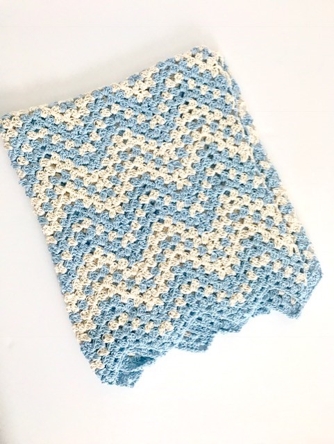 Dreamy Waves Chevron Baby Blanket crochet pattern - summer baby blanket crochet pattern - crochet baby blanket pattern by Little Monkeys Design - chevron baby blanket kit