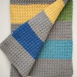 Jewel Tones Baby Blanket crochet pattern - a modern baby blanket crochet pattern - color block baby blanket