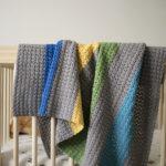 Jewel Tones Baby Blanket crochet pattern - a modern baby blanket crochet pattern - color block baby blanket - unique baby blanket crochet kit