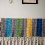 Jewel Tones Baby Blanket crochet pattern - a modern baby blanket crochet pattern by Little Monkeys Design - unique baby blanket crochet kit