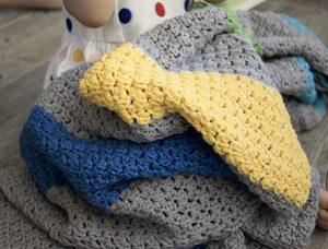 Jewel Tones Baby Blanket crochet pattern - a modern baby blanket crochet pattern - colorful organic baby blanket - color block baby blanket