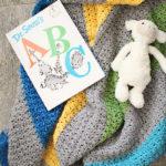 Jewel Tones Baby Blanket crochet pattern - a modern baby blanket crochet pattern - organic baby blanket in many colors - unique baby blanket crochet kit