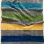 Jewel Tones baby blanket crochet pattern with O-wool Balance yarn - modern crochet baby blanket pattern