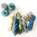 O-wool Balance Yarn for Jewel Tones baby blanket - unique baby blanket crochet kit