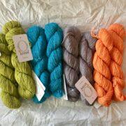 O-wool Balance yarn for Sea Of Colors baby blanket kit- modern baby blanket crochet kit