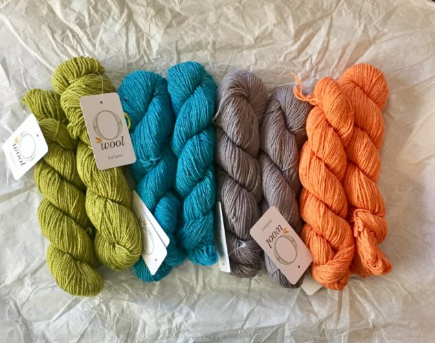 O-wool Balance yarn for Sea Of Colors baby blanket kit- modern baby blanket crochet kit