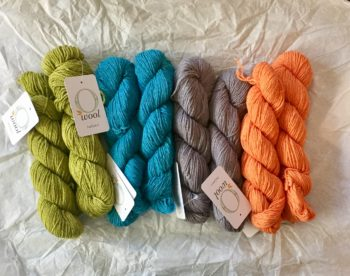 O-wool Balance yarn for Sea Of Colors baby blanket kit