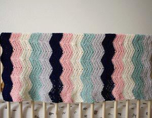 Perfection! Baby Blanket crochet pattern - crochet baby blanket pattern - modern ripple stitch blanket - organic baby blanket - crochet baby blanket kit - crochet baby blanket pattern