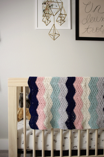 Perfection A Ripple Style Crochet Baby Blanket Pattern By Little