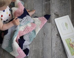 Perfection! Baby Blanket crochet pattern - crochet baby blanket pattern - modern ripple stitch blanket - organic baby blanket gift - crochet baby blanket kit - crochet baby blanket pattern