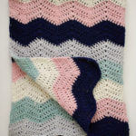 Perfection! Baby Blanket crochet pattern - crochet baby blanket pattern - modern ripple stitch blanket - organic cotton blanket