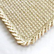 Pure Love crochet baby blanket pattern kit - organic cotton baby blanket