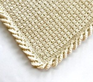 Pure Love crochet baby blanket pattern kit - organic cotton baby blanket