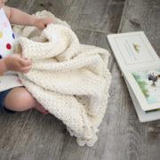 Pure Love crochet pattern baby blanket - baby blanket crochet pattern - crochet baby blanket pattern - baby blanket crochet pattern kit - cream organic cotton baby blanket by Little Monkeys Design